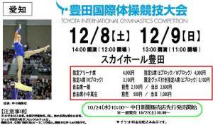 12.8~12.9豊田国際体操競技